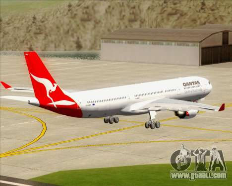 Airbus A330-300 Qantas for GTA San Andreas inner view