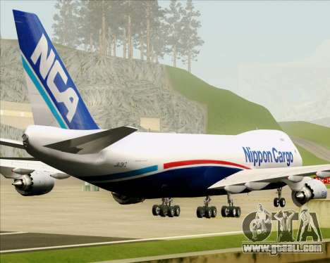 Boeing 747-8 Cargo Nippon Cargo Airlines for GTA San Andreas bottom view