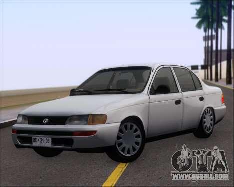 Toyota Corolla 1.6 for GTA San Andreas