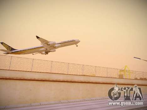 Airbus A340-600 Singapore Airlines for GTA San Andreas right view