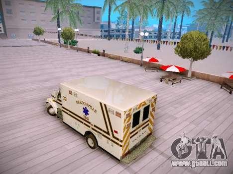 Pierce Commercial Grasonville Ambulance for GTA San Andreas back left view