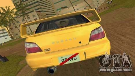 Subaru Impreza WRX 2002 Type 1 for GTA Vice City right view