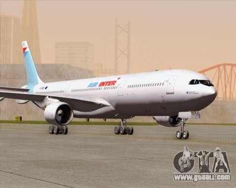 Airbus A330-300 Air Inter for GTA San Andreas upper view