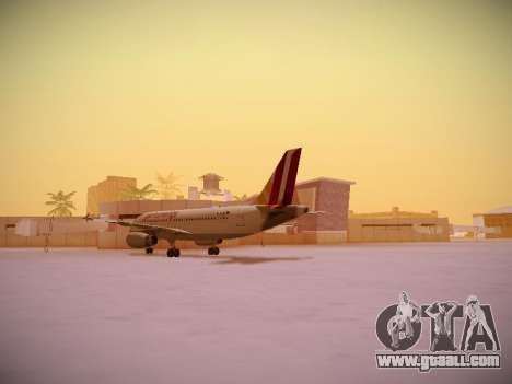 Airbus A319-132 Germanwings for GTA San Andreas back view