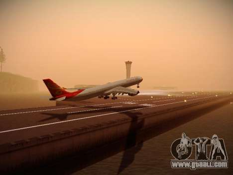 Airbus A340-600 Hainan Airlines for GTA San Andreas right view