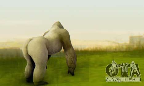 Gorilla (Mammal) for GTA San Andreas third screenshot