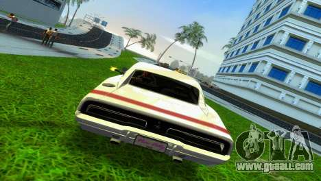 Dodge Charger 1967 for GTA Vice City back left view