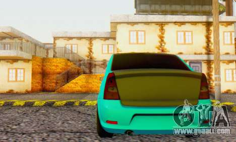Dacia Logan Pearl Blue for GTA San Andreas back view