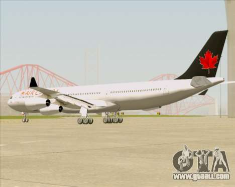 Airbus A340-313 Air Canada for GTA San Andreas back left view