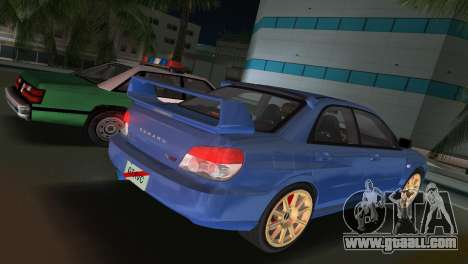 Subaru Impreza WRX STI 2006 Type 1 for GTA Vice City left view
