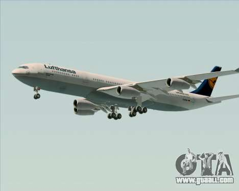 Airbus A340-313 Lufthansa for GTA San Andreas side view