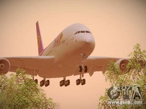 Airbus A380-800 Thai Airways International for GTA San Andreas left view