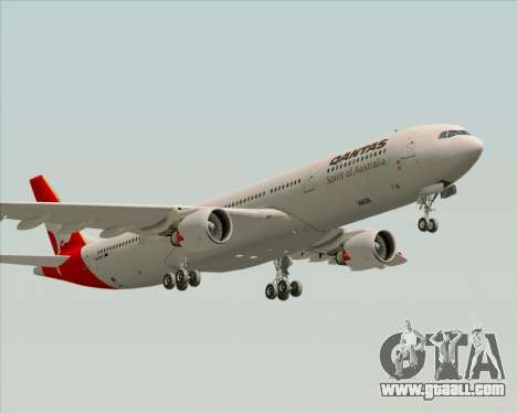 Airbus A330-300 Qantas for GTA San Andreas side view