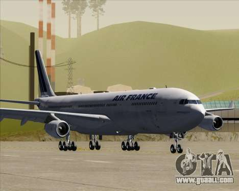 Airbus A340-313 Air France (Old Livery) for GTA San Andreas left view