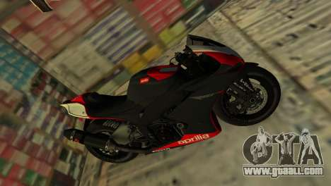 Aprilia RSV4 2009 Original for GTA Vice City back left view