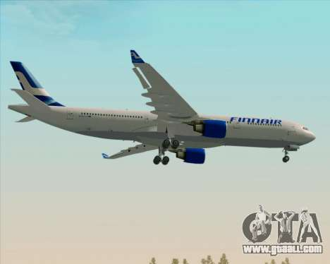 Airbus A330-300 Finnair (Old Livery) for GTA San Andreas back view