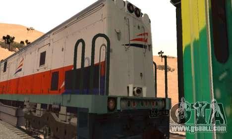 GE U18C CC 201 Indonesian Locomotive for GTA San Andreas right view