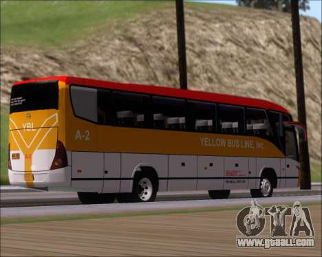 Marcopolo Paradiso G7 1050 Yellow Bus Line A-2 for GTA San Andreas right view