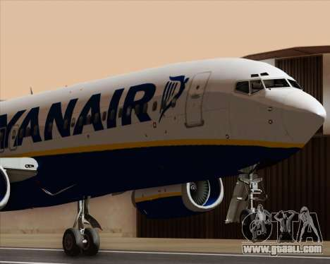 Boeing 737-8AS Ryanair for GTA San Andreas side view