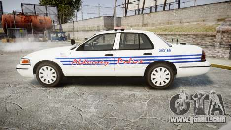 Ford Crown Victoria Alderney Police [ELS] for GTA 4 left view
