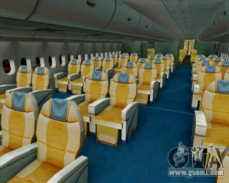 Airbus A380-841 Singapore Airlines for GTA San Andreas interior
