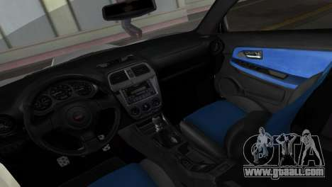 Subaru Impreza WRX STI 2006 Type 1 for GTA Vice City inner view