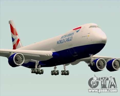 Boeing 747-8 Cargo British Airways World Cargo for GTA San Andreas