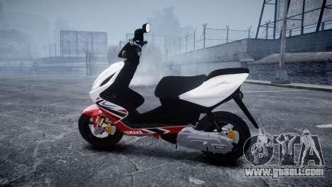 Yamaha Aerox R for GTA 4 left view