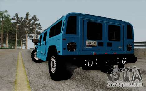 Hummer H1 Alpha 2006 Road version for GTA San Andreas back left view