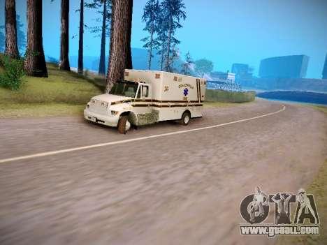 Pierce Commercial Grasonville Ambulance for GTA San Andreas inner view