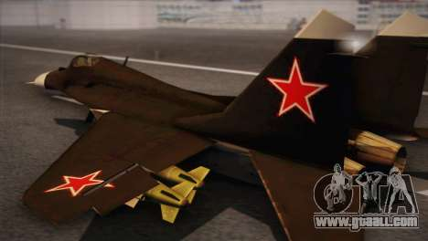 MIG 29 Russian Air Force From Ace Combat for GTA San Andreas left view