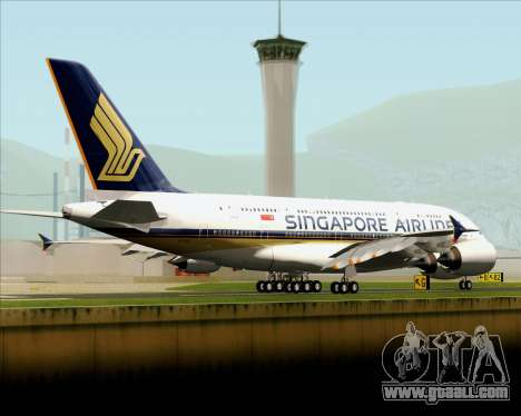 Airbus A380-841 Singapore Airlines for GTA San Andreas back left view