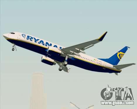 Boeing 737-8AS Ryanair for GTA San Andreas upper view