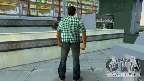 Kockas polo - vilagoskek T-Shirt for GTA Vice City forth screenshot