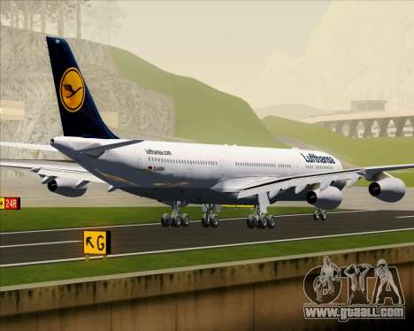 Airbus A340-313 Lufthansa for GTA San Andreas back view
