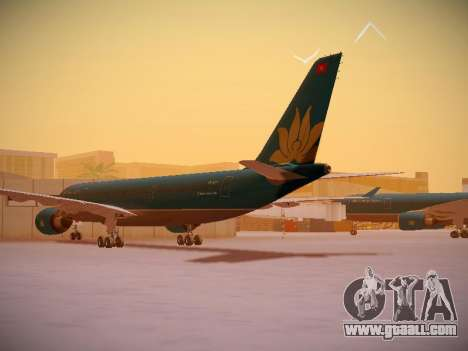 Airbus A330-200 Vietnam Airlines for GTA San Andreas back left view