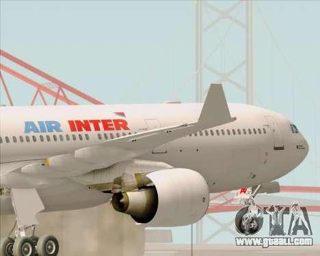 Airbus A330-300 Air Inter for GTA San Andreas interior