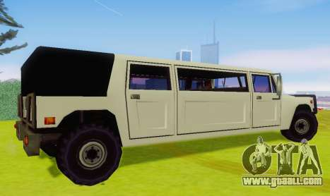 Patriot Limousine for GTA San Andreas back left view