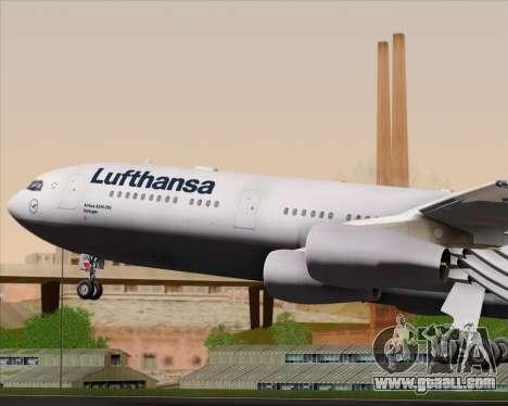 Airbus A340-313 Lufthansa for GTA San Andreas engine