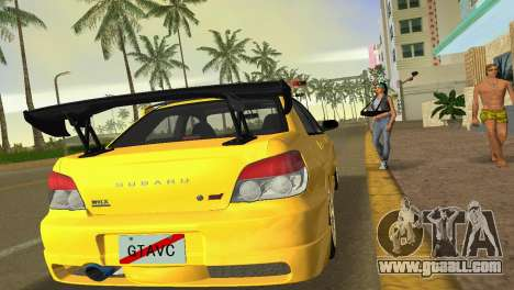 Subaru Impreza WRX STI 2006 Type 4 for GTA Vice City back view