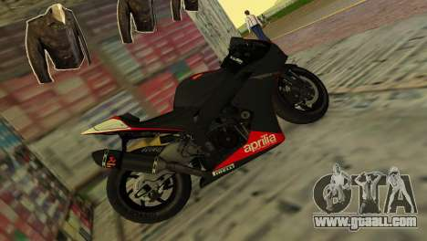 Aprilia RSV4 2009 Original for GTA Vice City left view