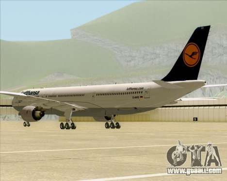 Airbus A330-300 Lufthansa for GTA San Andreas back view