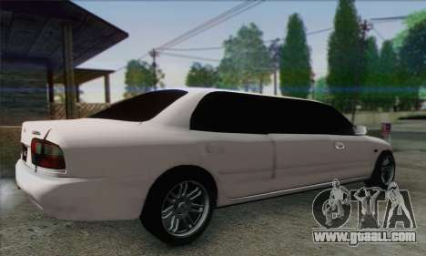 Proton Wira Official Malaysian Limousine for GTA San Andreas left view