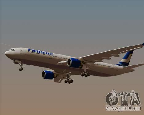 Airbus A330-300 Finnair (Old Livery) for GTA San Andreas inner view