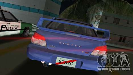 Subaru Impreza WRX STI 2006 Type 1 for GTA Vice City back left view