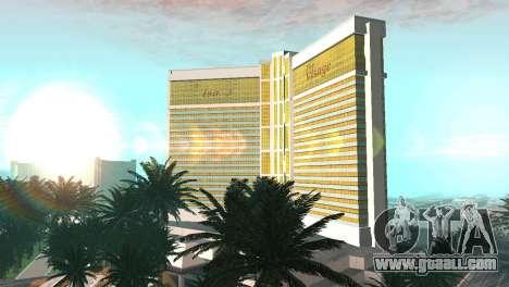New textures casino Visage in Las Venturas for GTA San Andreas second screenshot
