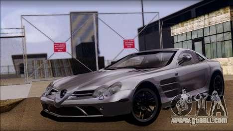 Mercedes-Benz SLR 722 for GTA San Andreas