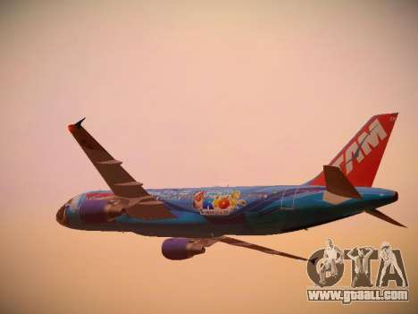Airbus A320-214 TAM Airlines RIO for GTA San Andreas bottom view