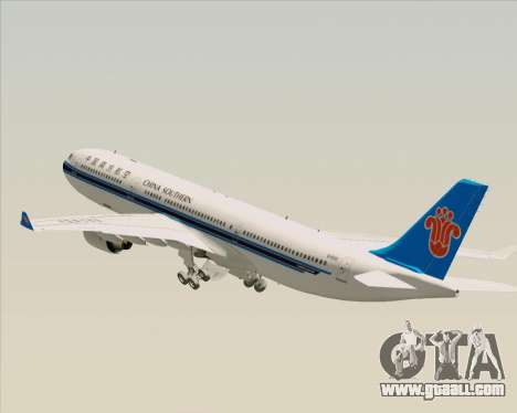 Airbus A330-300 China Southern Airlines for GTA San Andreas wheels
