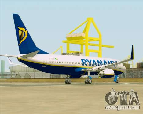 Boeing 737-8AS Ryanair for GTA San Andreas right view